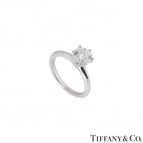 Tiffany & Co. Platinum Diamond Setting Ring 1.24ct G/VS1 XXX